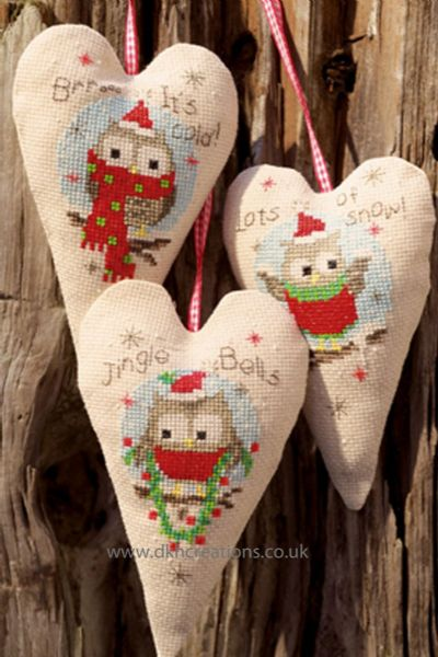 Christmas Owls Decorations Cross Stitch Kit